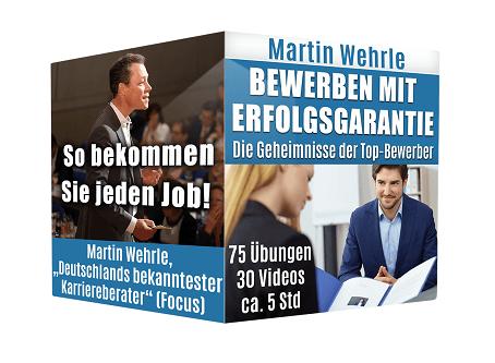 Martin Wehrle Bewerbung schreiben