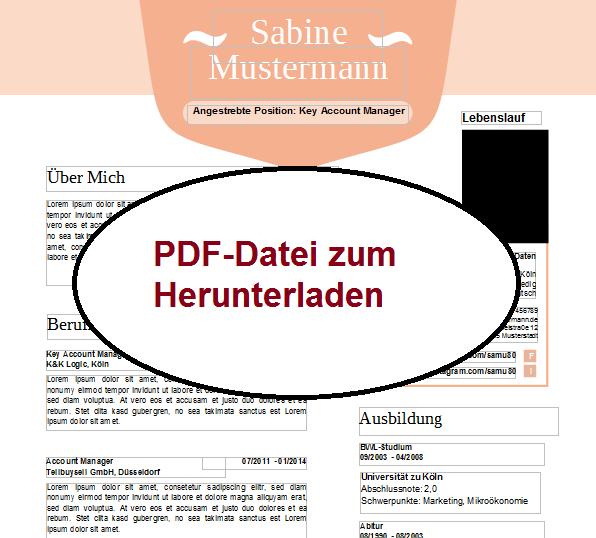 Lebenslauf 1 PDF Datei Bewerbung schreiben