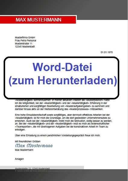 Word-Datei 2 Bewerbung schreiben