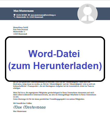 Word-Datei 4 Bewerbung schreiben