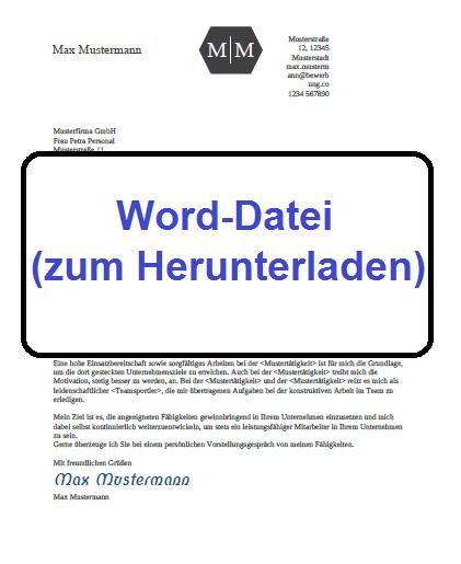 Word-Datei 5 Bewerbung schreiben