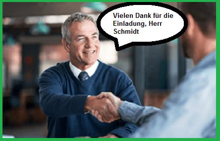 Begrüßung Schmidt
